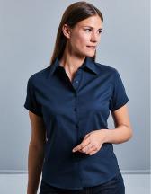 Ladies` Short Sleeve Classic Twill Shirt