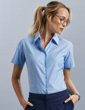 Ladies` Short Sleeve Classic Oxford Shirt