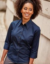 Ladies` 3/4 Sleeve Fitted Tencel® Shirt