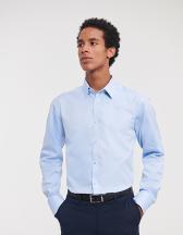 Men`s Long Sleeve Tailored Herringbone Shirt