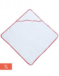 Piped Border Baby Towel With Hood Terry